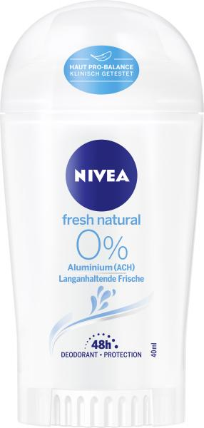 Nivea Fresh Natural 0% Deo Stick