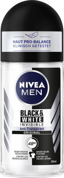 Nivea Men Black & White Invisible Original Deo Roll On