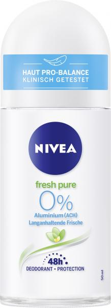 Nivea Fresh Pure 0% Aluminium Deo Roll On