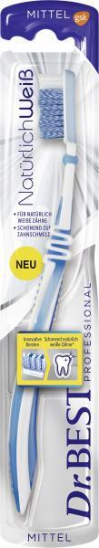 Dr. Best Zahnbürste natürlich weiß mittel