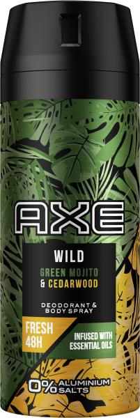 Axe Bodyspray Wild Green Mojito & Cedarwood
