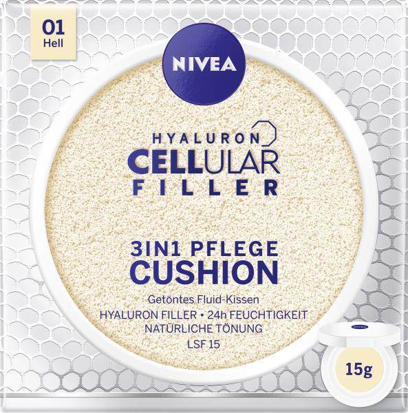 Nivea Hyaloron Cellular Filler 3in1 Pflege Cushion 01 hell