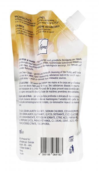 La Ligne Cremeseife Milch & Honig Nachfüllbeutel