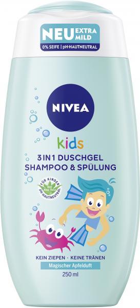 Nivea Kids 3 in 1 Duschgel Shampoo & Spülung Magischer Apfelduft