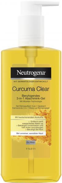 Neutrogena Curcuma Clear Beruhigendes 3-in-1 Abschmink-Gel
