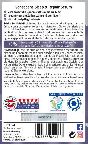 Schaebens Limited Edition Slepp & Repair Serum
