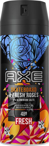 Axe Bodyspray Skateboard & Fresh Rose