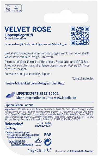 Labello Velvet Rose