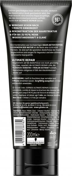 Schwarzkopf Gliss Kur 1 Minute Express Kur Ultimate Repair