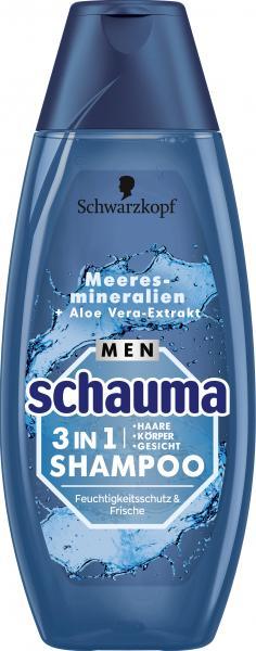 Schauma Shampoo for Men 3in1 Feuchtigkeitsschutz
