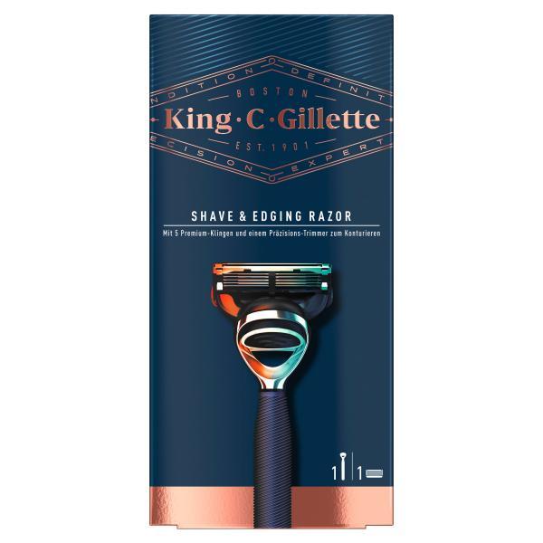 King C. Gillette Rasierer mit Präzisions Konturen-Trimmer blau