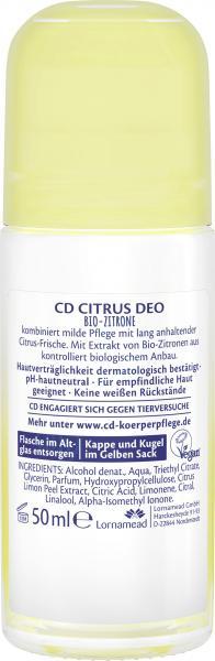 CD Citrus Deo Roll-On Bio-Zitrone