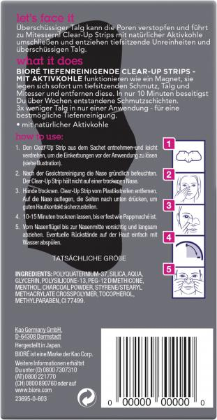Bioré Clear-Up Strips mit Aktivkohle