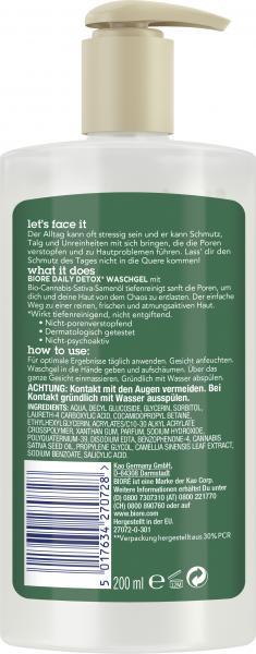 Bioré Daily Detox Waschgel Bio-Cannabis-Sativa-Samenöl