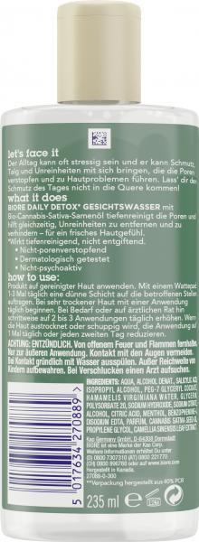 Bioré Daily Detox Gesichtswasser Bio-Cannabis-Sativa-Samenöl