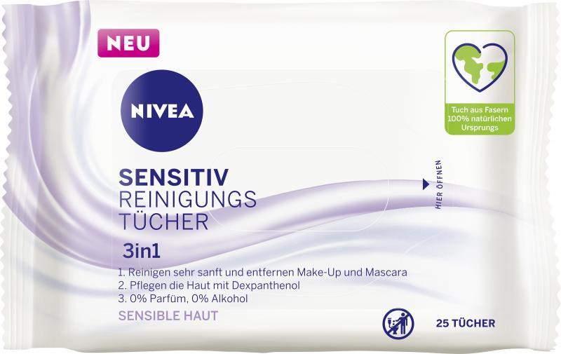 Nivea Sensitiv Reinigungstücher 3in1 sensible Haut