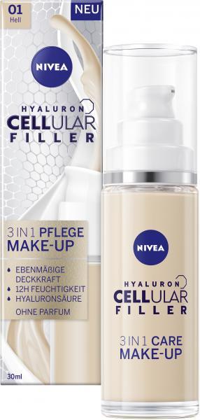 Nivea Hyaluron Cellular Filler 3in1 Pflege Make-Up 01 hell