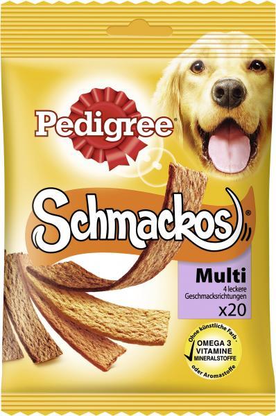 Pedigree Schmackos Multi 4 leckere Geschmacksrichtungen