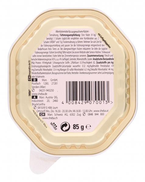 Sheba Selection in Sauce mit Geflügelhäppchen