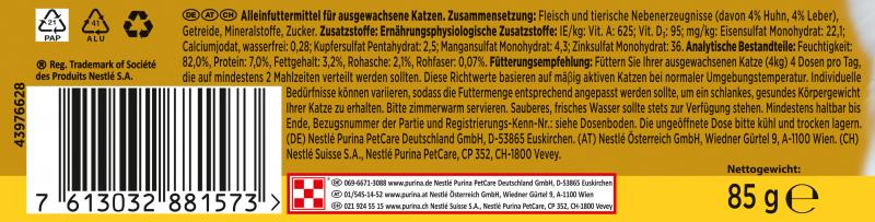 Gourmet Gold Zarte Häppchen in Sauce mit Huhn & Leber
