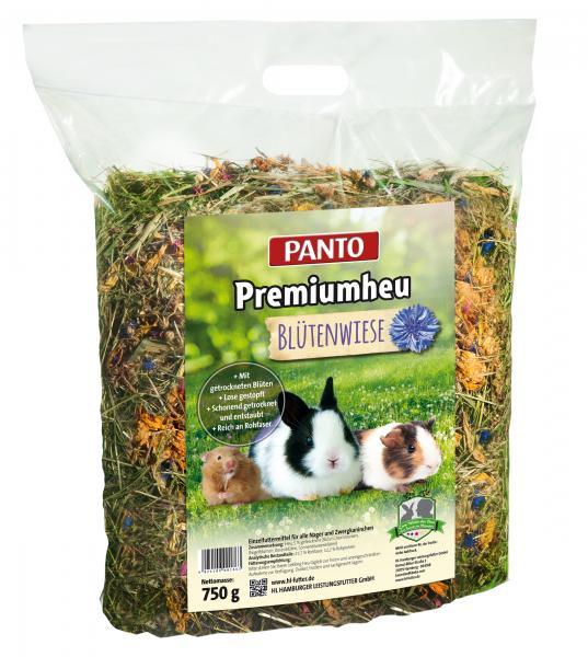 Panto Premiumheu Blütenwiese Einzelfuttermittel für Nager und Zwergkaninchen