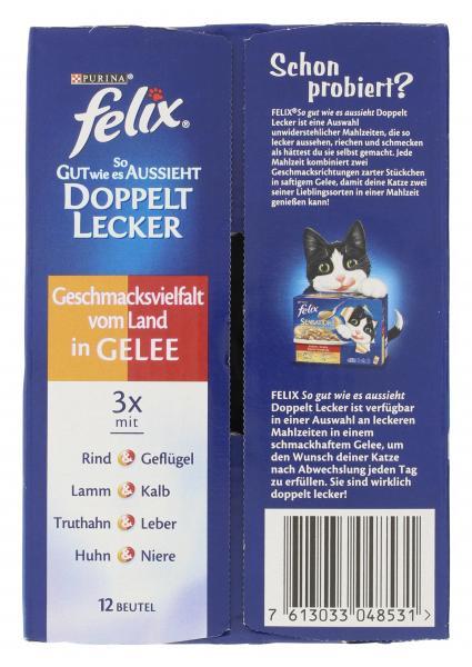 Felix So gut wie es aussieht Doppelt lecker Fleischauswahl in Gelee