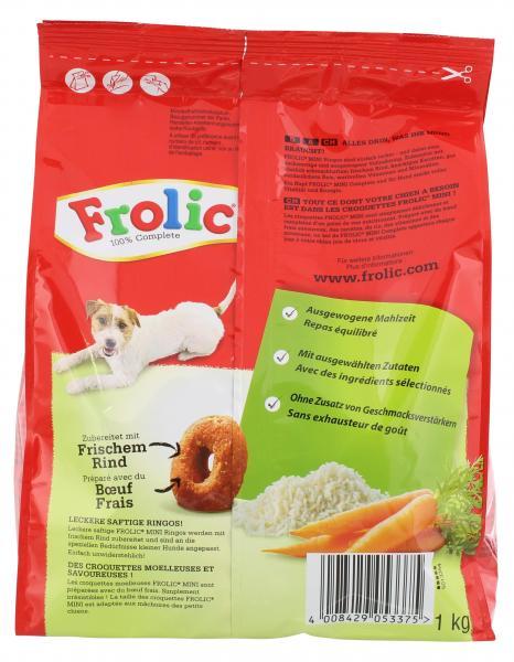 Frolic Mini mit Rind, Karotten & Reis