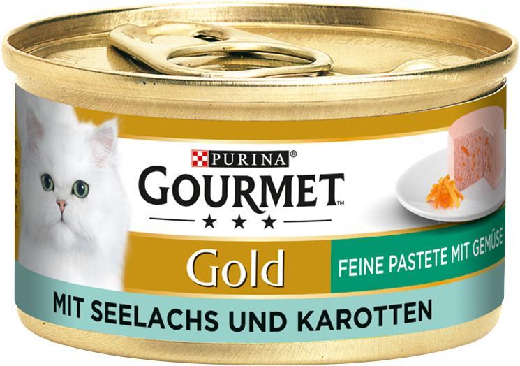 Gourmet Gold Feine Pastete mit Gemüse mit Seelachs & Karotten