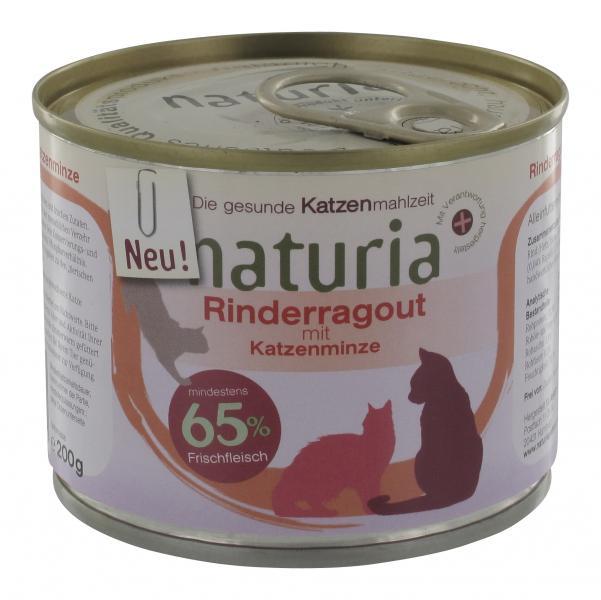 Naturia Rinderragout mit Katzenminze