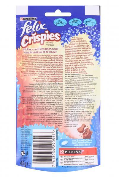 Felix Crispies mit Rind- und Huhngeschmack