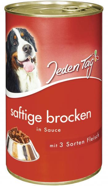 Jeden Tag Hund Saftige Brocken in Sauce 3 Sorten Fleisch
