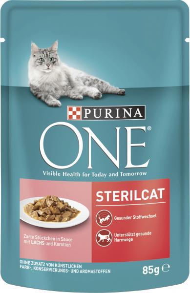 Purina One Sterilcat Lachs & Karotte