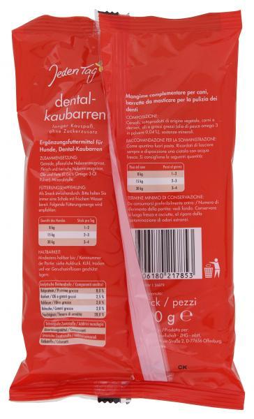 Jeden Tag Hund Dental-Kaubarren