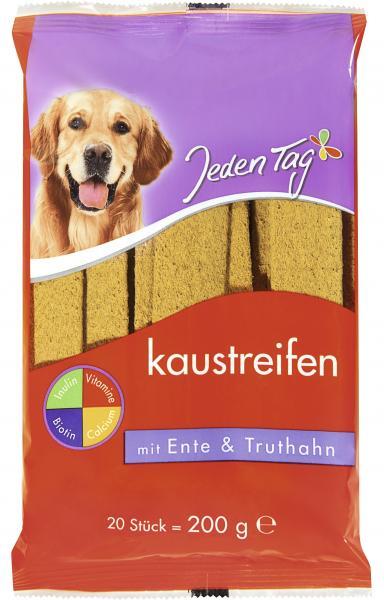 Jeden Tag Hund Kaustreifen mit Ente & Truthahn