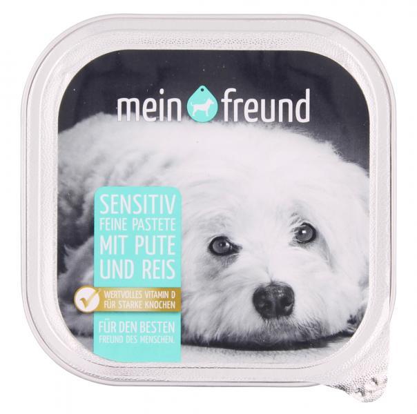 Mein Freund Hund Feine Pastete sensitiv Pute