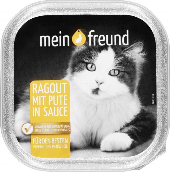 Mein Freund Katze Ragout mit Pute in Sauce
