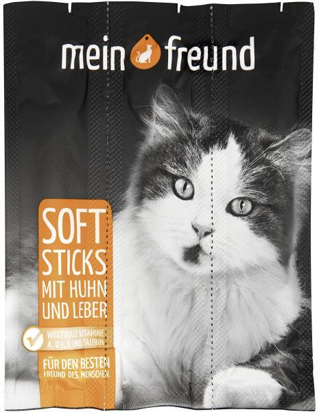 Mein Freund Katze Softsticks mit Huhn und Leber