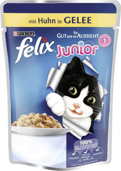 Felix Junior So gut wie es aussieht mit Huhn in Gelee