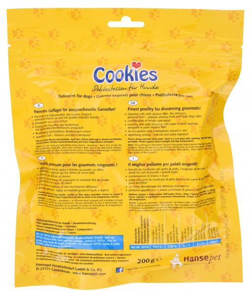 Hansepet Cookie's Kaurollen mit Hähnchenfiletfleisch