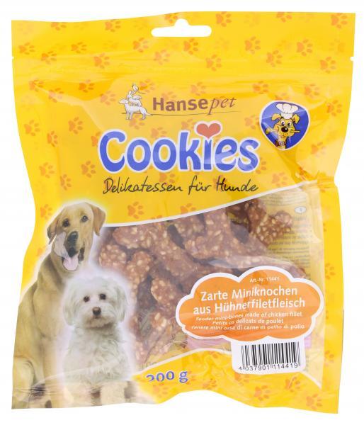 Hansepet Cookie's Miniknochen aus Hühnerfiletfleisch