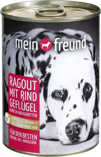 Mein Freund Hund Ragout mit Rind und Geflügel