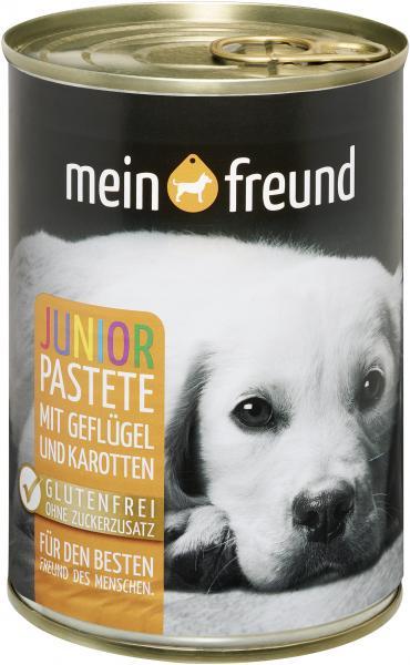 Mein Freund Hund Pastete Junior Geflügel