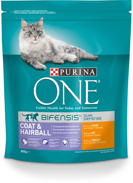Purina One Bifensis Coat & Hairball Reich an Huhn