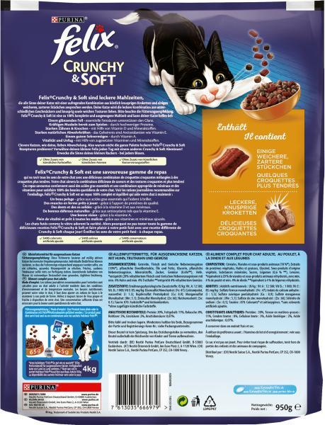 Felix Crunchy & Soft mit Huhn, Truthahn und Gemüse