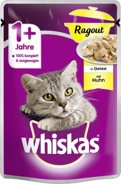 Whiskas 1+ Ragout in Gelee mit Huhn