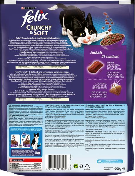 Felix Crunchy & Soft mit Lamm, Truthahn und Gemüse