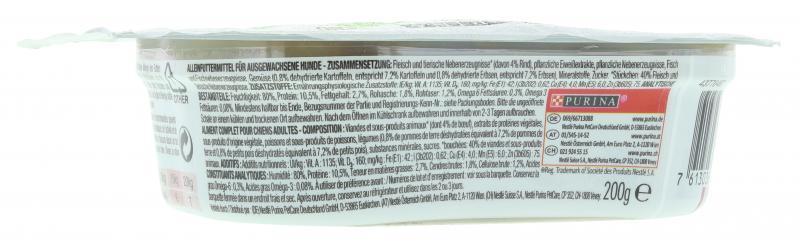 Beneful Schlemmermenü Rind, Kartoffeln und Erbsen