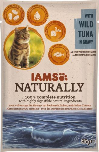 Iams Naturally Cat mit Wild-Thunfisch in Sauce