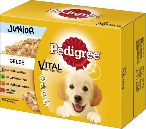 Pedigree Junion Gelee mit Huhn/Lamm/Geflügel/Rind