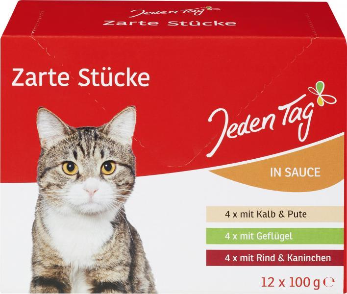 Jeden Tag Katze Zarte Stücke in Sauce Multipack